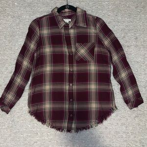 Westbound purple and cream flannel size S